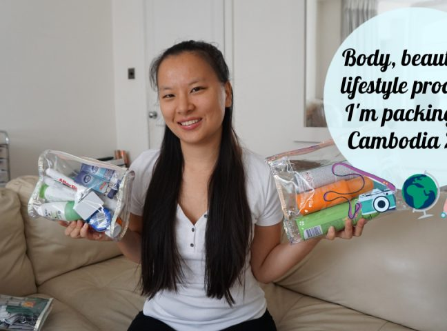 Video | Body, beauty, & lifestyle products I am packing for Cambodia 2019